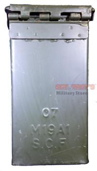 5 (FIVE) USGI METAL M19A1 30 CAL 7.62mm AMMO CANS 30 CALIBER Grade 3