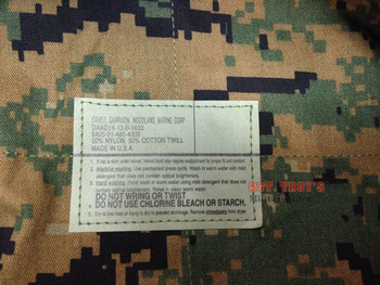 GENUINE MARINE 8-POINT WOODLAND DIGI COVER CAP 50/50 NYLON COTTON MADE USA EGA NEW