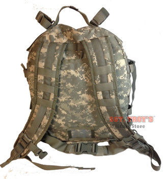 US ARMY ACU ASSAULT PACK w Back STIFFNER 3 DAY MOLLE II BACKPACK BUG OUT BAG Good