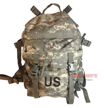 US ARMY ACU ASSAULT PACK 3 DAY MOLLE II BACKPACK BUG OUT BAG Very Good