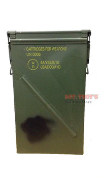 81mm Tall Ammo Can M821A2 Military Surplus Metal Can USGI good to very good Condition