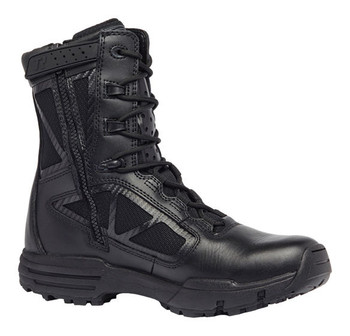 "Belleville Tactical Research Chrome TR998 Z WP CT 8"" Black Waterproof Side Zip Composite Toe Boot"