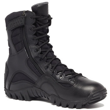 """Tactical Research TR960ZWP 8"""" Khyber Waterproof Zip Up Tactical Black Boot"""