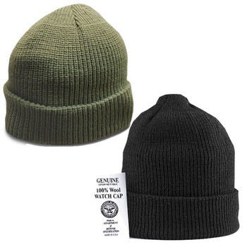100% Wool Tactical Watch Cap Genuine GI Military Winter Knit Cap Made in USA NEW