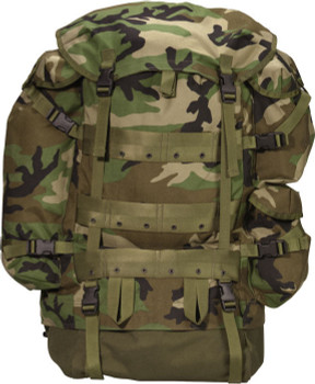 GENUINE MILITARY ISSUE LARGE CFP-90 WOODLAND COMBAT FIELD PACK