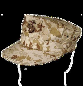 USGI Marine Woodland Camo Cover Cap w/ EGA | SGT TROYS