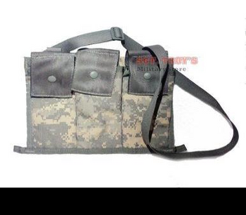 GENUINE US ACU BANDOLEER AMMO POUCH 6 MAGAZINE MOLLE II Excellent Condition