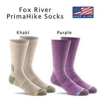Fox River PrimaHike Primaloft Nano Glide FoxSox Cushion Crew Socks NEW
