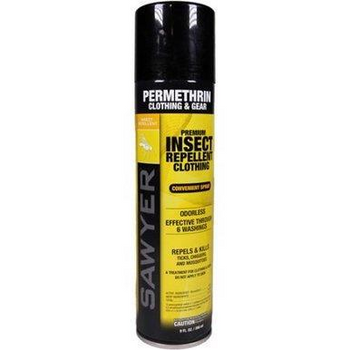 Sawyer Permethrin Clothing Premium Insect Repellent -6 oz Aerosol