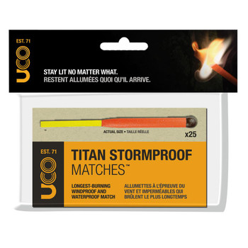 Titan Stormproof Matches 25 Pack Box