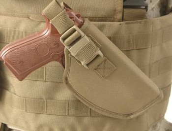 Raine Canted (Angled) Left Handed Tactical Holster - Coyote
