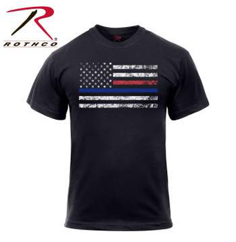 Rothco Red and Blue Line Flag T-Shirt