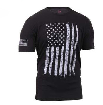 Rothco Distressed Flag T-Shirt in Black