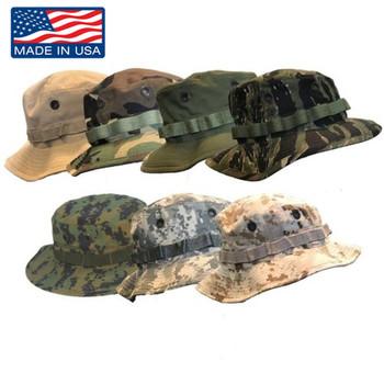 Original Military Issue Boonie Bush Hat 50/50 Nylon Cotton Made in USA
