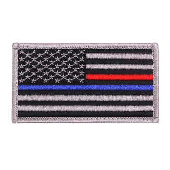 Blue Red line Flag Patch with Velcro