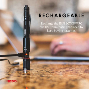 Nebo Inspector RC Re-chargable Flashlight Pen