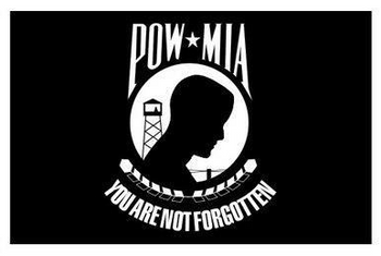 POW MIA Nylon Flag MADE IN USA 3x5