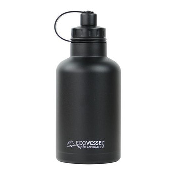 EcoVessel THE Boss 64oz Insulated Growler Bottle with Infuser
