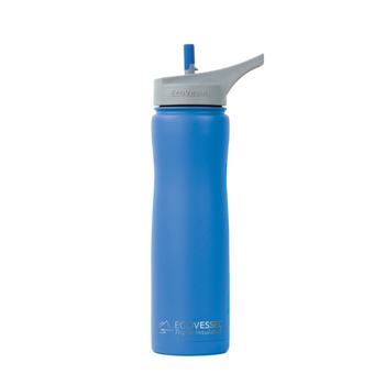 EcoVessel Summit 24oz Insulated Water Bottle with Flip Straw Top