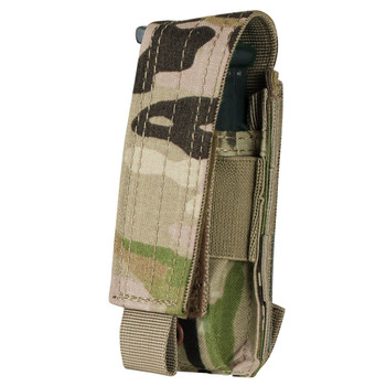 The Condor Pistol Mag Pouch fits almost any pistol magazine. The adjustable flap also ideal storage for utility items and small tools.