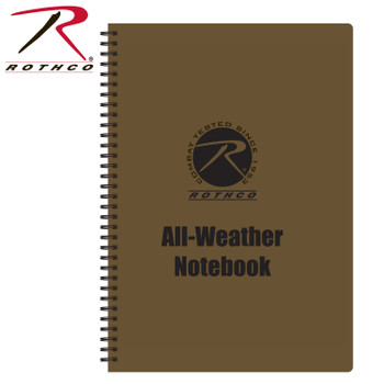Rothco's All Weather Waterproof Notebook allows you to write anywhere, even in the rain! The waterproof notepad features a PVC Cover with 48 Sheets of waterproof bonded paper.