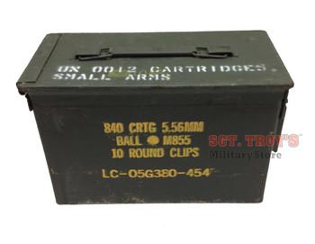 Ole Rusty DIY .50 CALIBER 5.56mm AMMO CAN M2A1 50CAL METAL AMMO CAN BOX Grade 3 Fair Condition