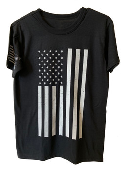 American Distressed Flag T-Shirt Tee Made in USA
