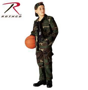 Rothco Kids BDU Pants Woodland Camo