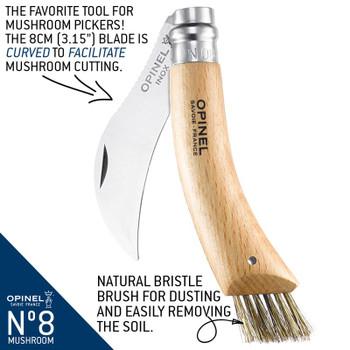 Opinel No.08 Mushroom Stainless Steel Folding Knife