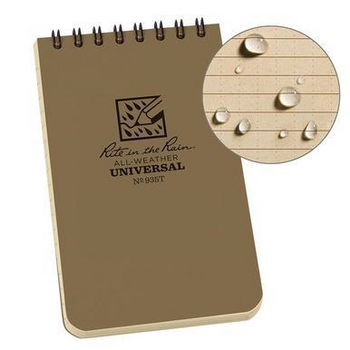 """Rite In The Rain 3""""x5"""" Small All Weather Notebook Made in USA"""