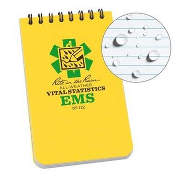 Rite In The Rain EMS Vital Stats All Weather Notebook Made in USA