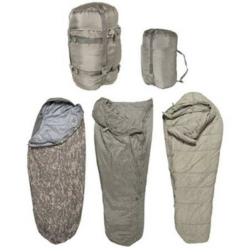 Military 5pc Modular Sleep System MSS ACU Sleeping Bag -60 Degrees Excellent Condition