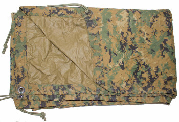 USMC Marpat Reversible Field Tarp with Bungees