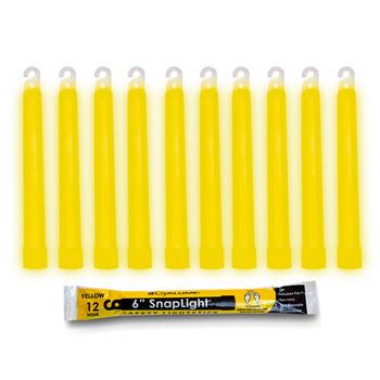 Cyalume 6 inch Yellow SnapLight 12hr Light Sticks 10pk