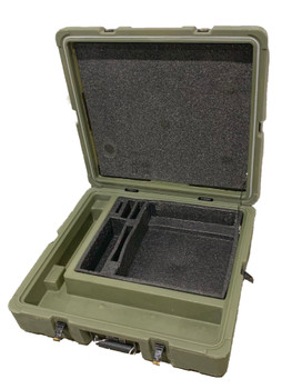 Military Medium Hard Case Transport Storage Case 23x21x6 Green used
