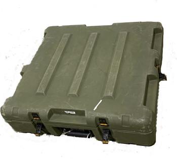 Military Medium Hard Case Transport Storage Case 23x21x6 Green used
