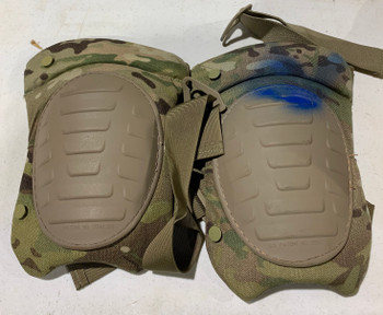 Military Multicam Knee Pads with Blue Paint used