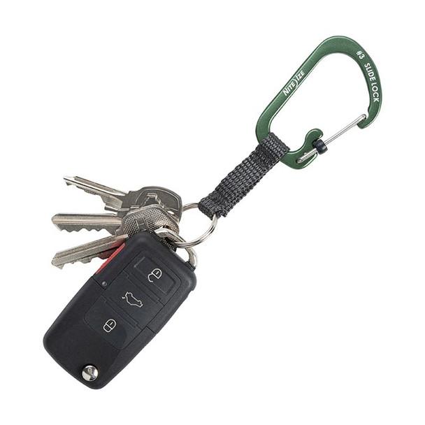 Slidelock Key Ring Aluminum (Olive)