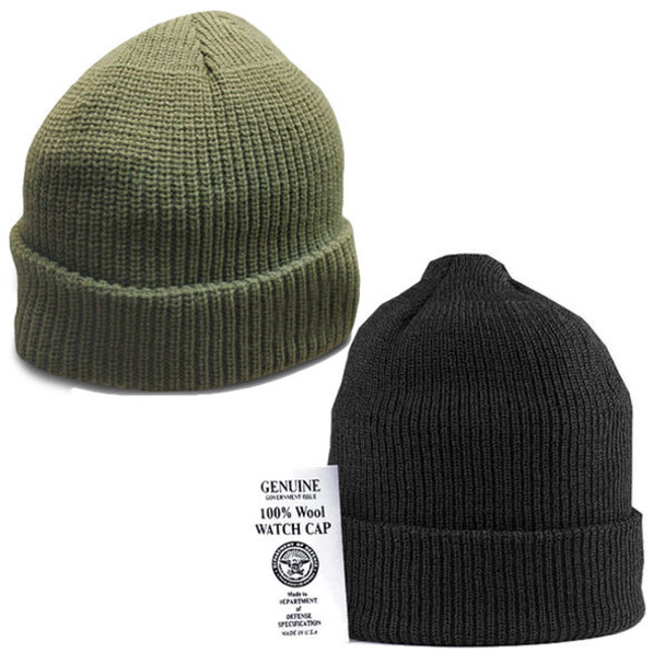 8b40588c7d1 100% Wool Tactical Watch Cap Genuine GI Military Winter Knit Cap Made in  USA NEW