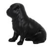 Pug Dog Matte Black Statue Sitting-4