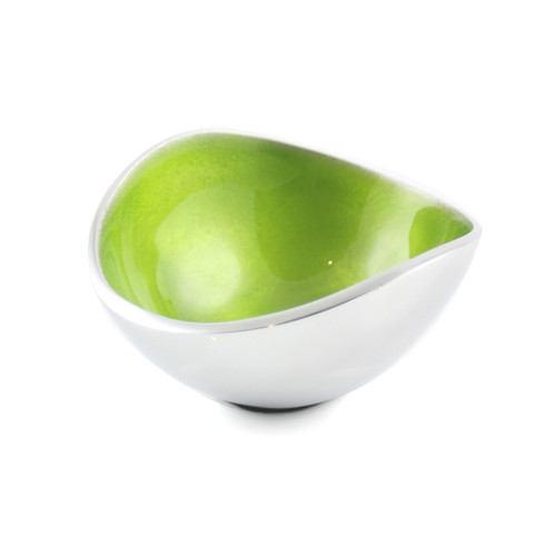Lime 10cm Oval Bowl