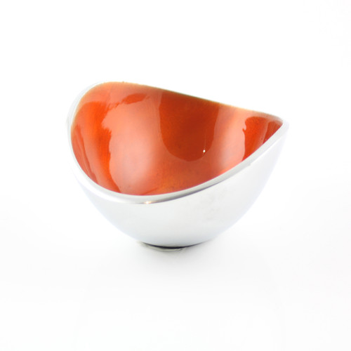 Orange 10cm Oval Bowl