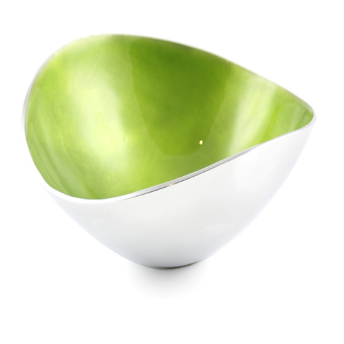 Lime 17cm Oval Bowl
