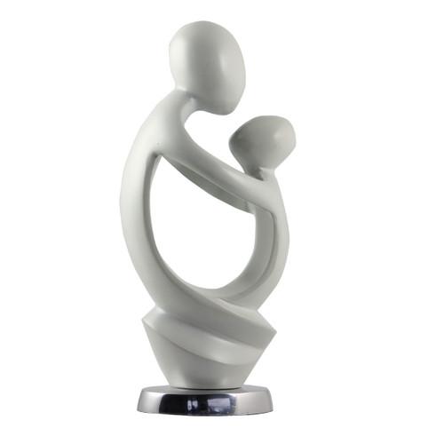 White Mother & Child Figurine