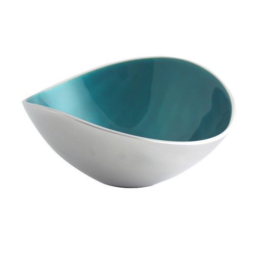 Aqua 17cm Oval Bowl