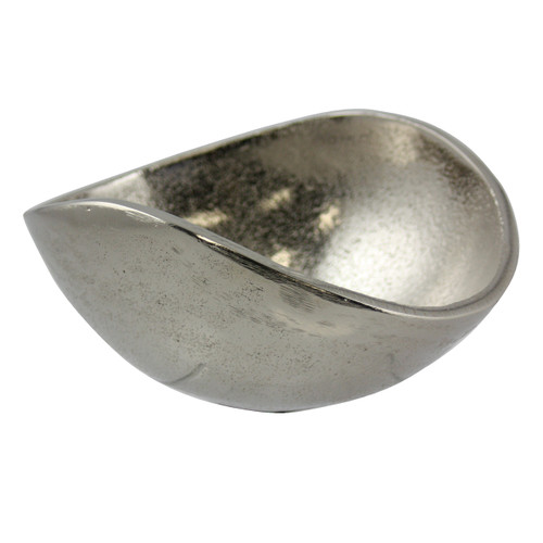 Rough Nickel 13cm Oval Bowl
