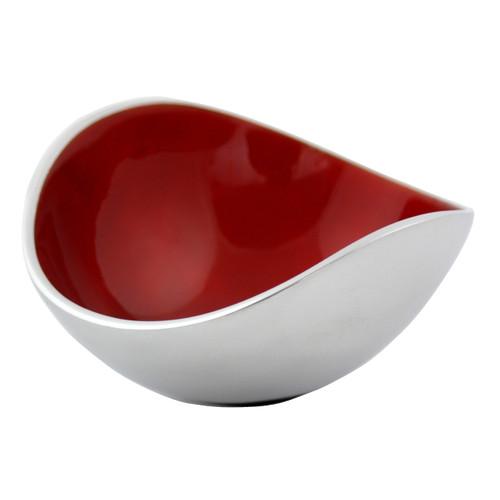 Red Ember 13cm Oval Bowl