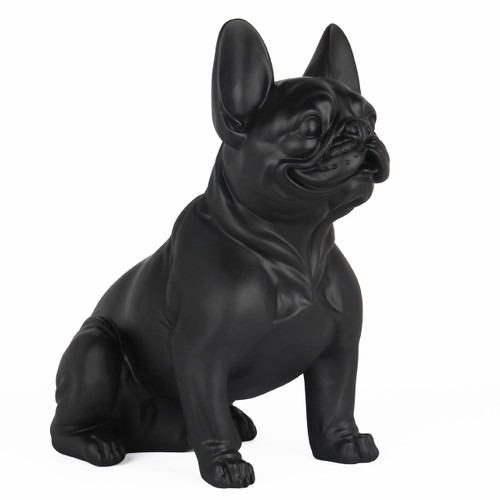 Frenchie - Sitting French Bulldog - Matte Black