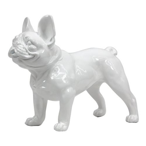 Frenchie - French Bulldog White Gloss Standing Statue