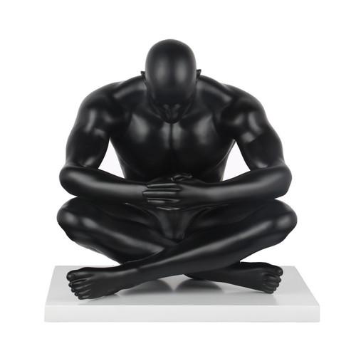 Deep Thinker Sculpture Matte Black
